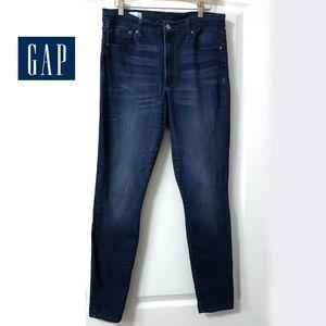 Gap 1969 High Rise Skinny Jeans Size 31r EUC blue